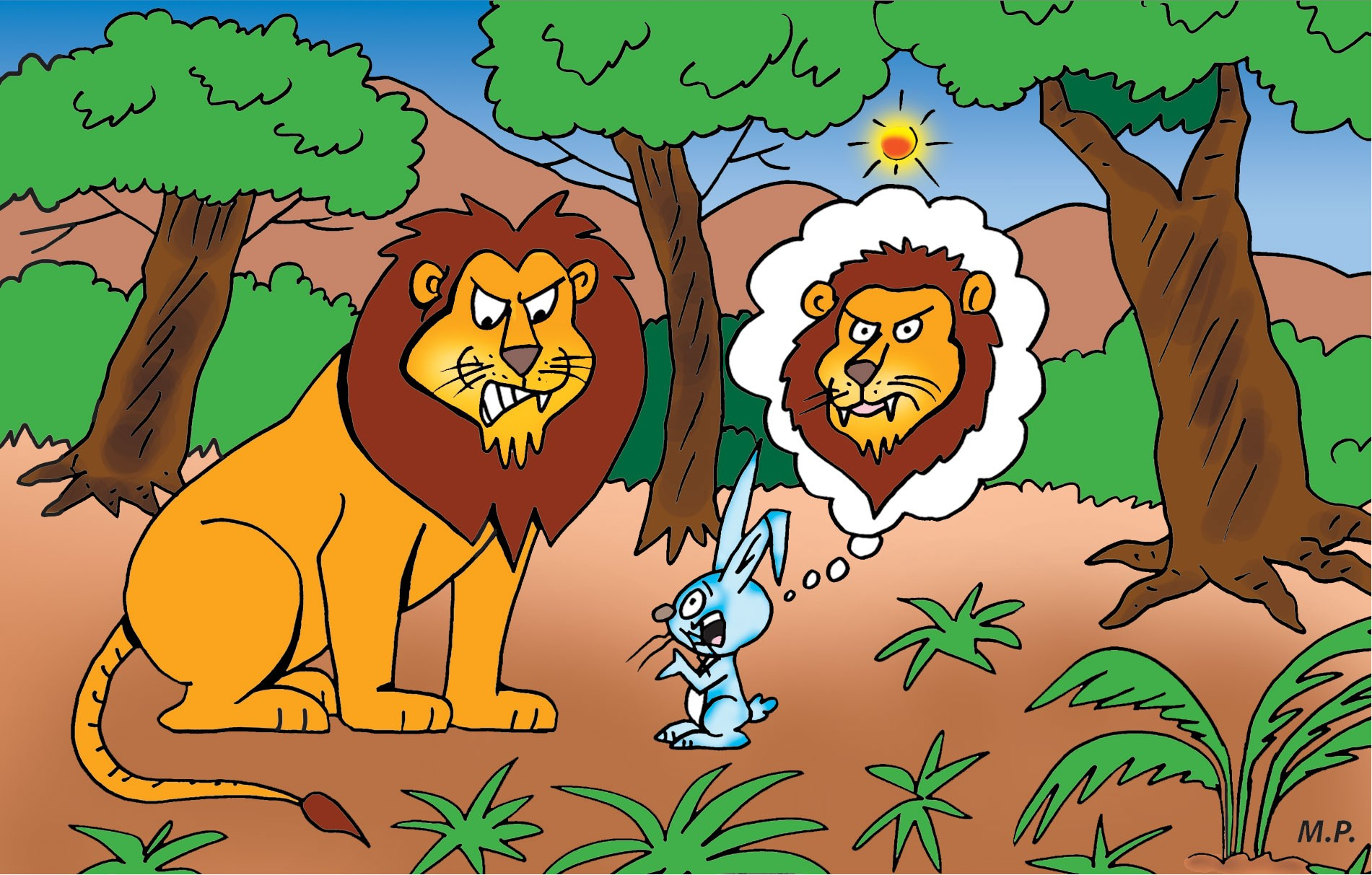 Panchatantra Tales: The lion and the hare - Katha Kids