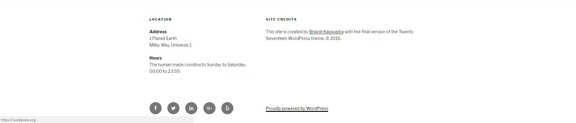 How To Change The 'Proudly Powered By WordPress' Text In The