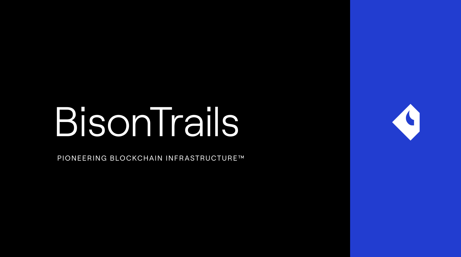 Bison Trails is Pioneering Blockchain Infrastructure™