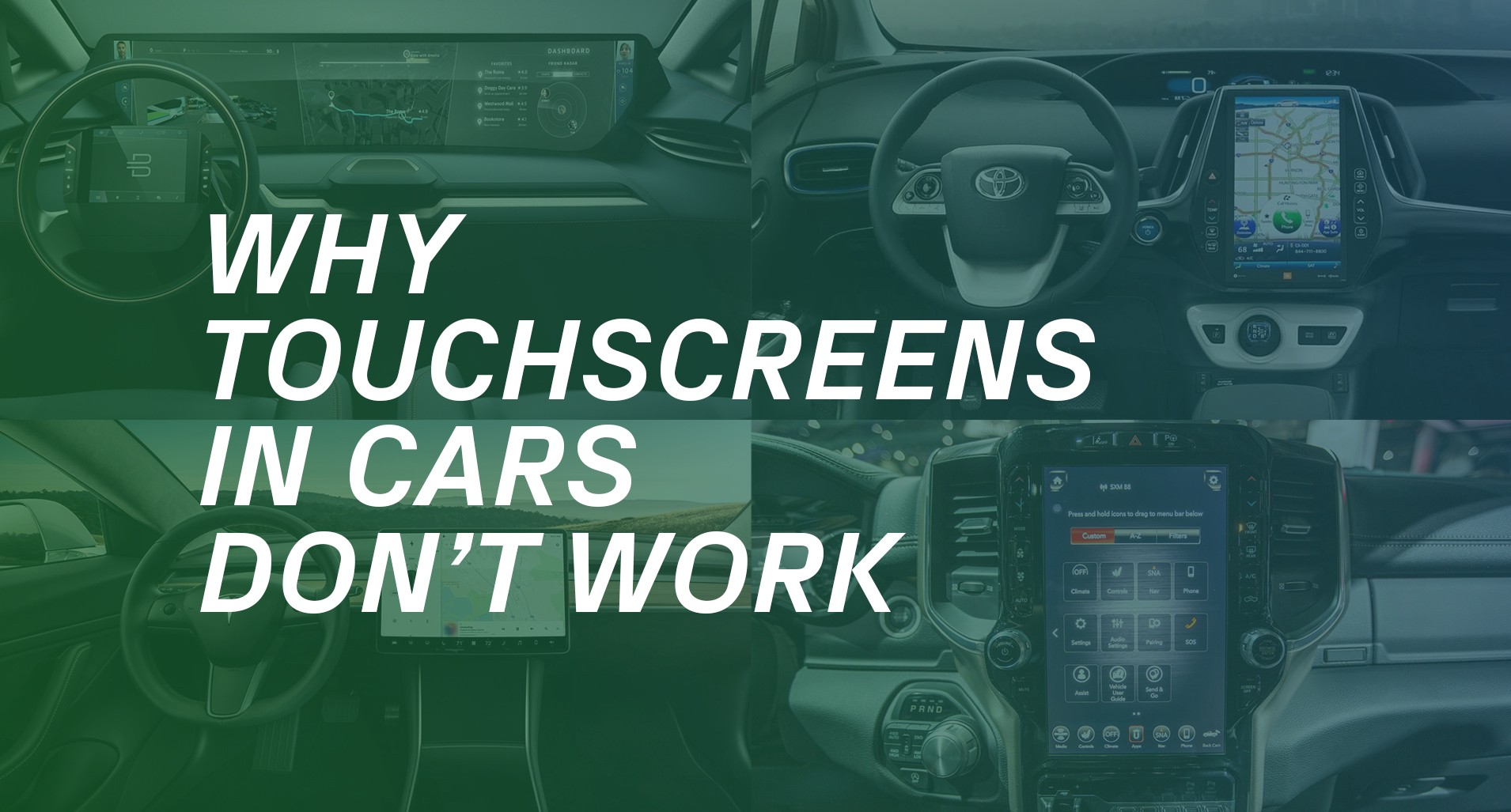 Why touchscreens in cars don't work - UX Collective