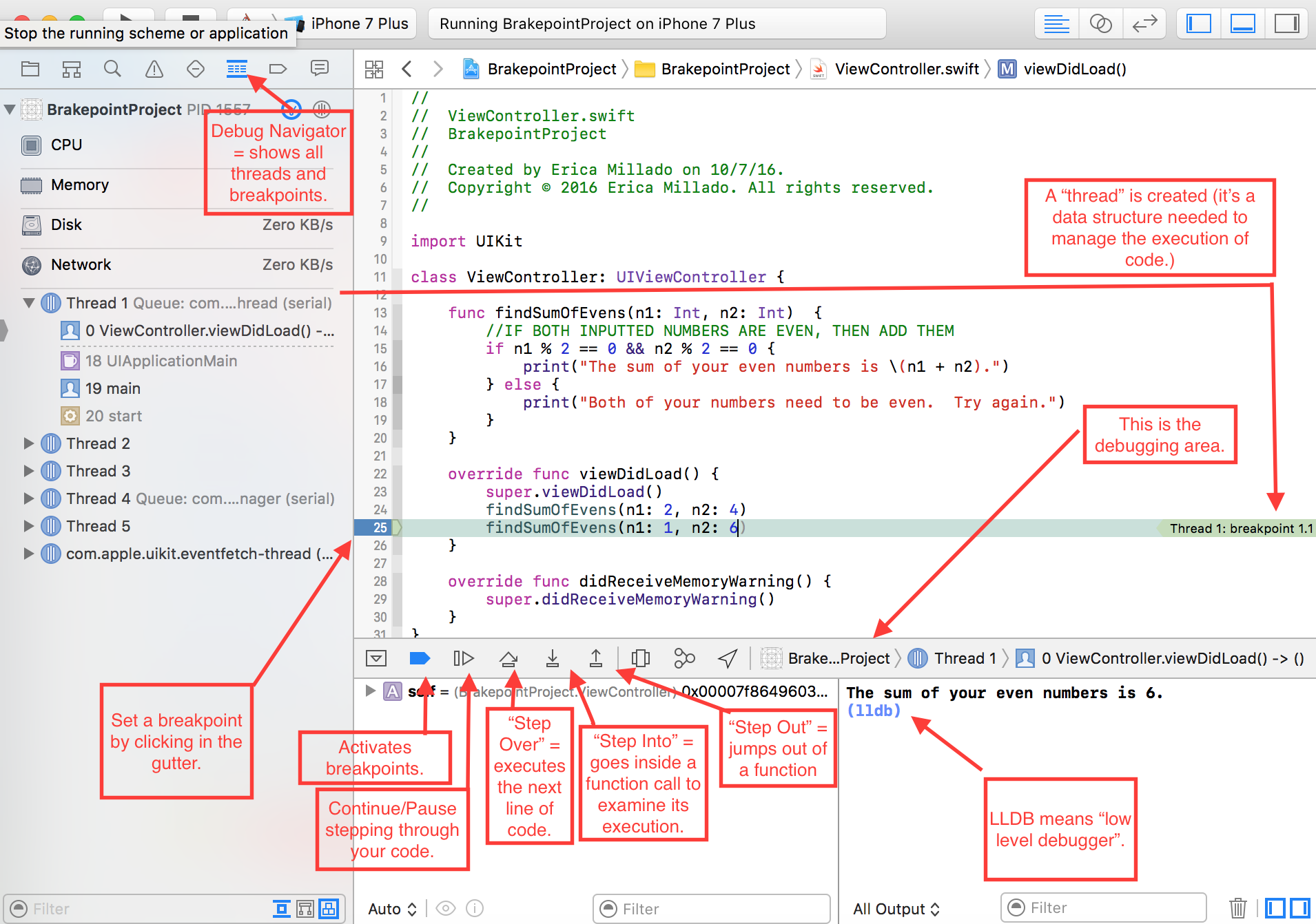 Xcode Debugging with Breakpoints (for Beginners) - Yay It's