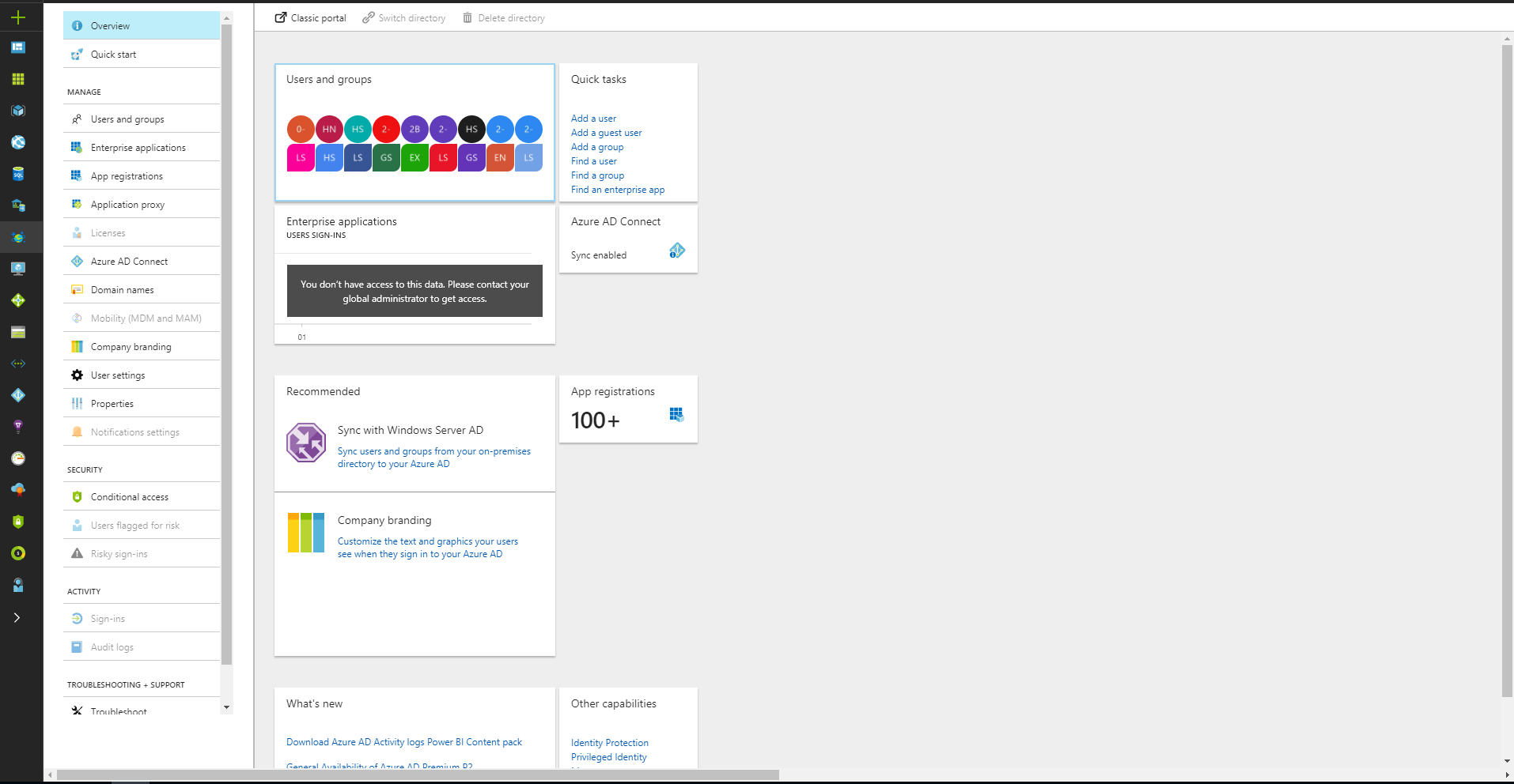 Integrating applications with Azure Active Directory in  NET