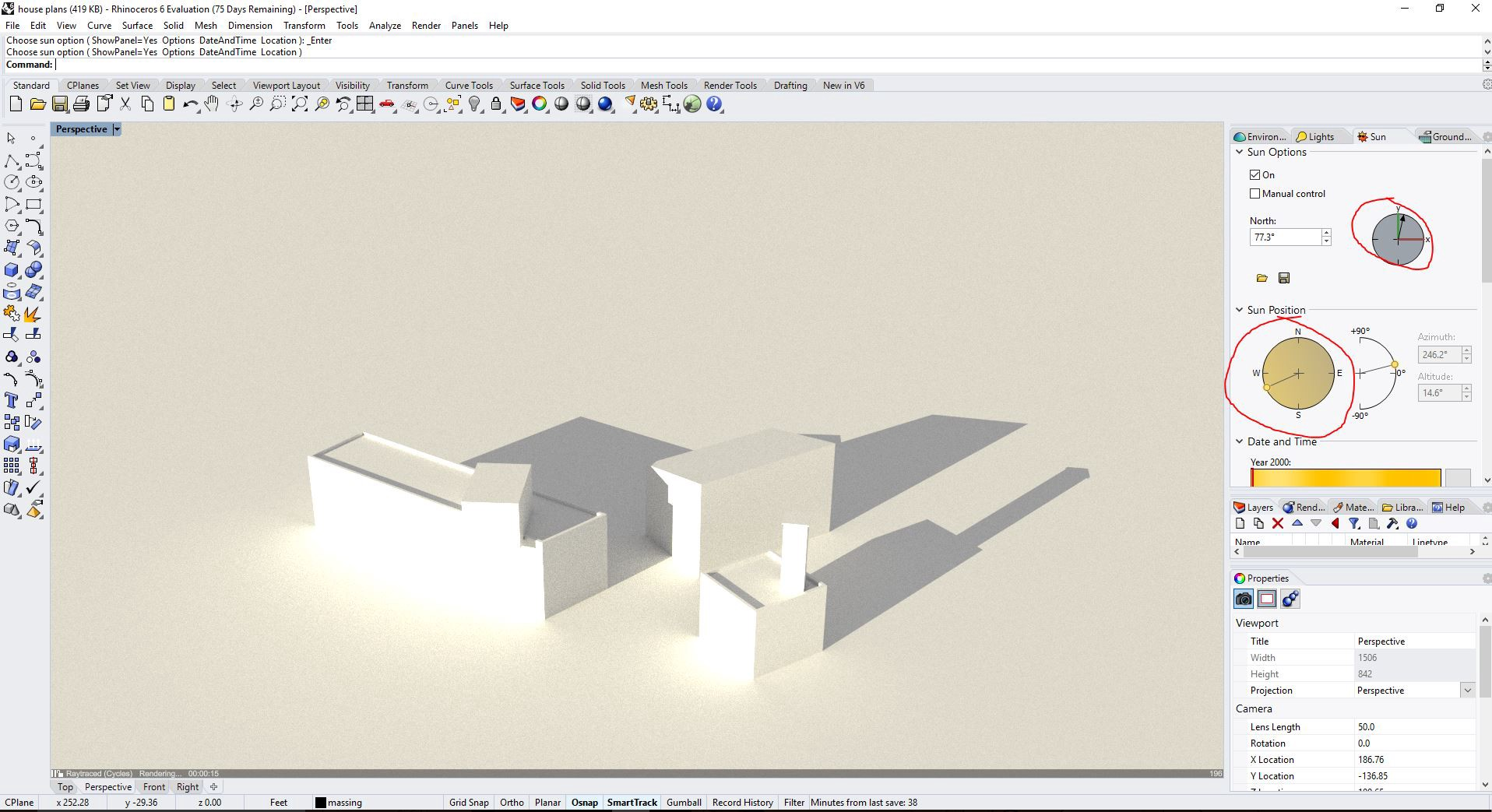 Rhino Tutorial: Customizing Perspective View Settings and