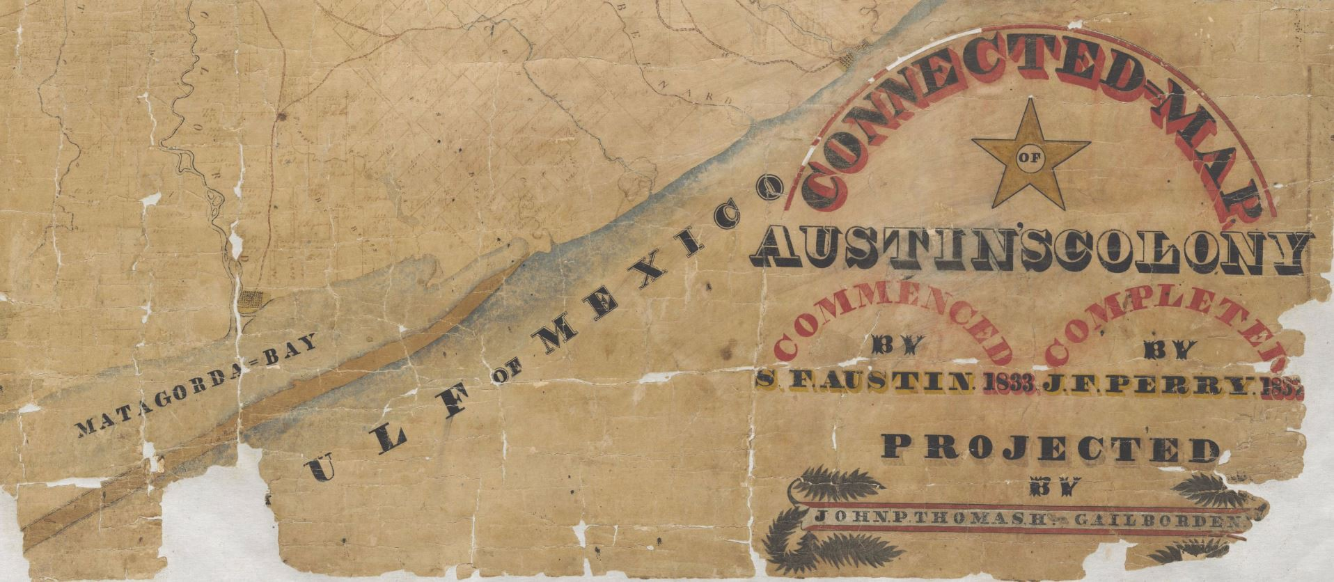 Map Program Austin Tx The Connected Map of Austin's Colony, 1837   Save Texas History