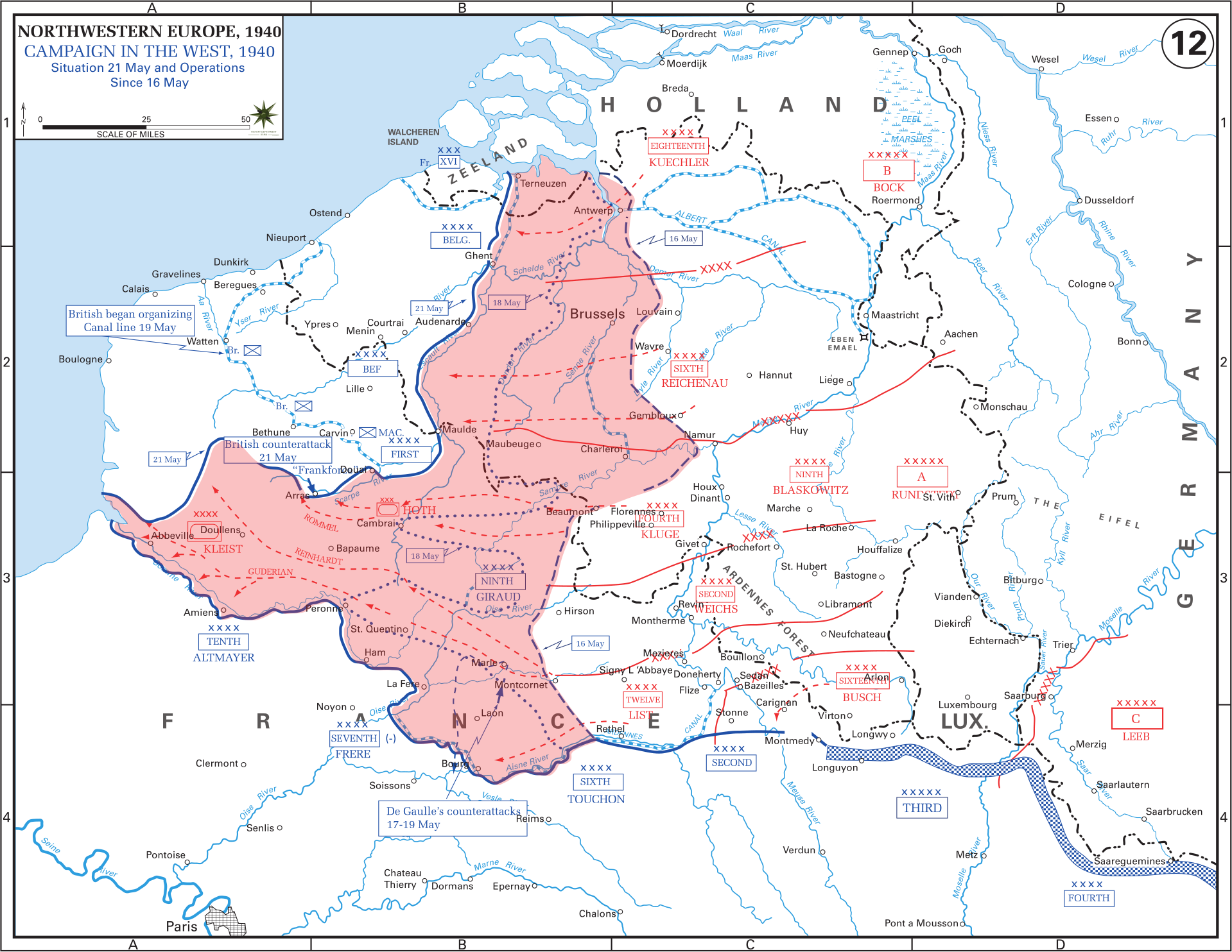 Map Of France Dunkirk.Western Front Maps Of World War Ii Inflab Medium