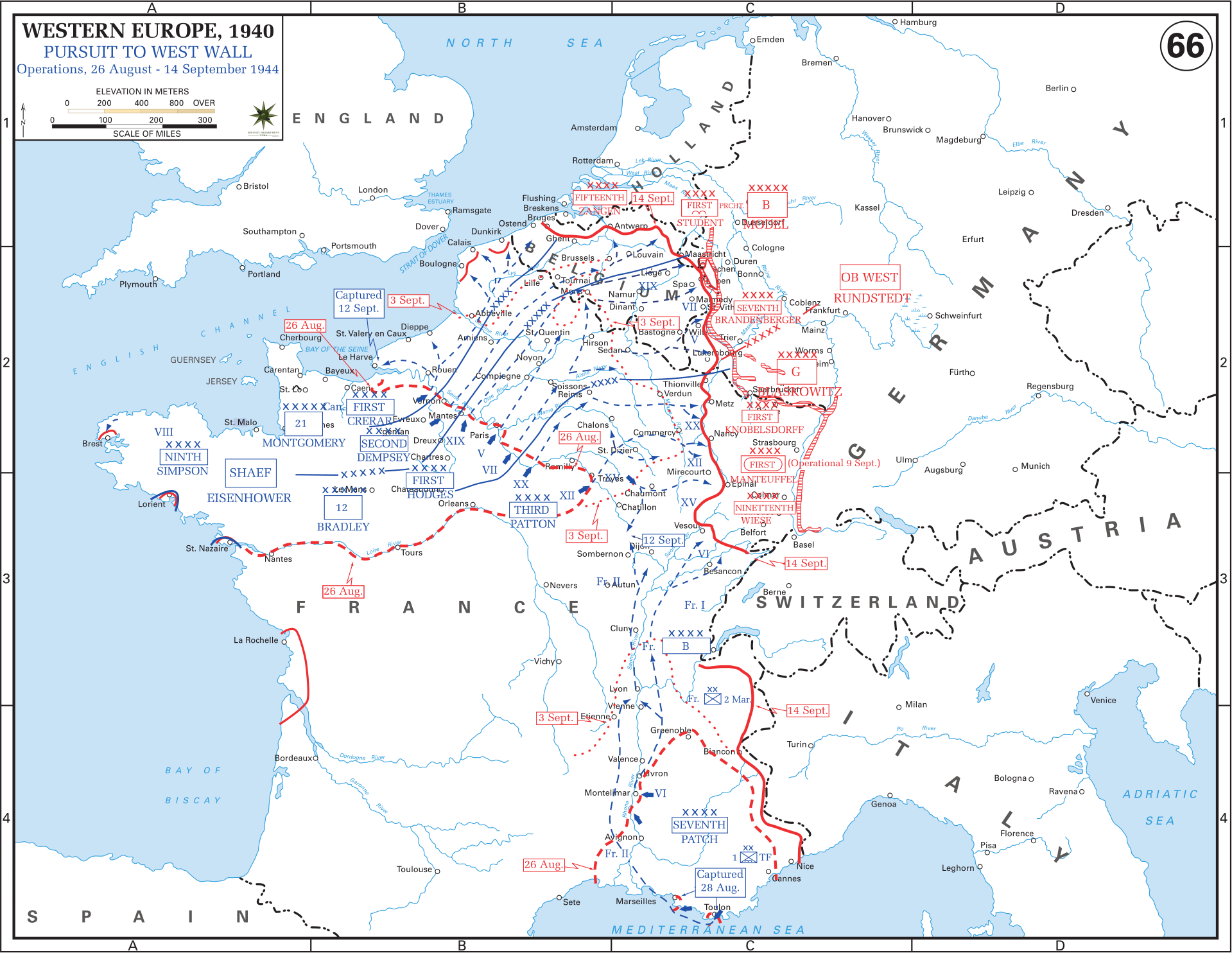 West Of France Map.Western Front Maps Of World War Ii Inflab Medium