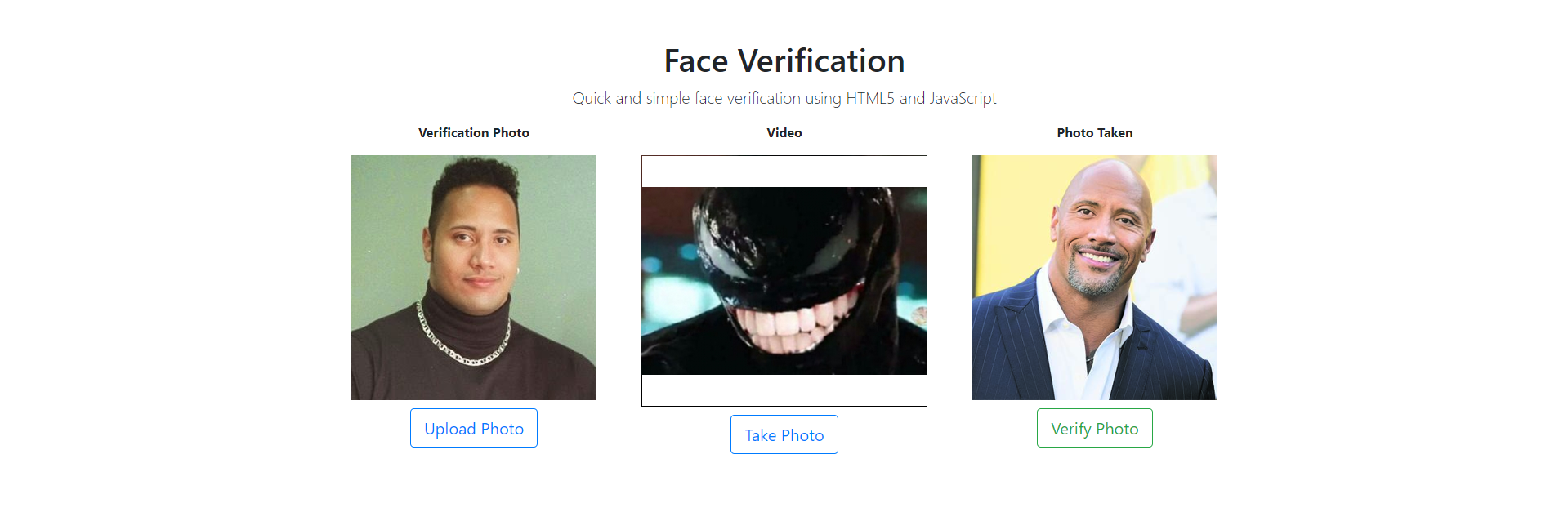 How to set up face verification the easy way using HTML5 +