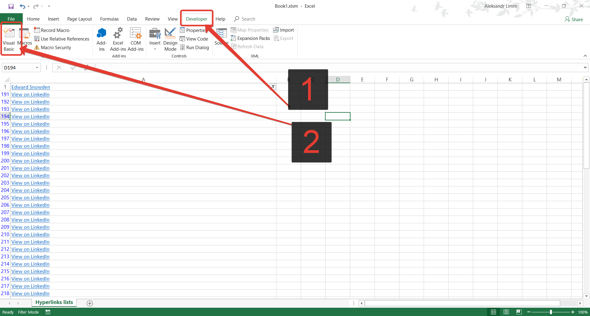 How to extract URLs from hyperlinks in excel workbook with formula ...