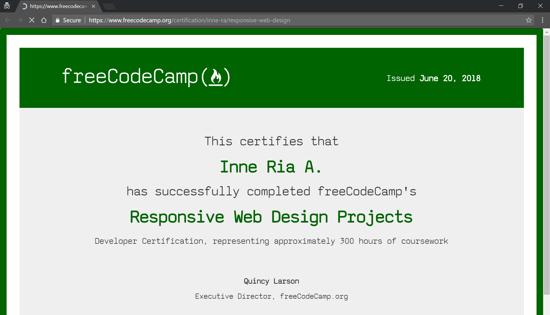 Day 45 Of 100daysofcode How To Claim Your Certificate On Freecodecamp By Inne R A Medium