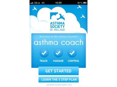 New Asthma Coach App set to help Irish people get their