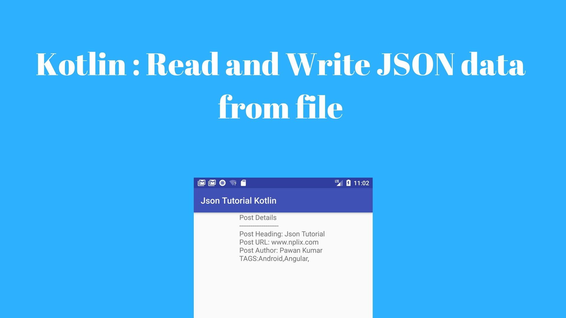 How to Read and Write JSON data in Kotlin with GSON