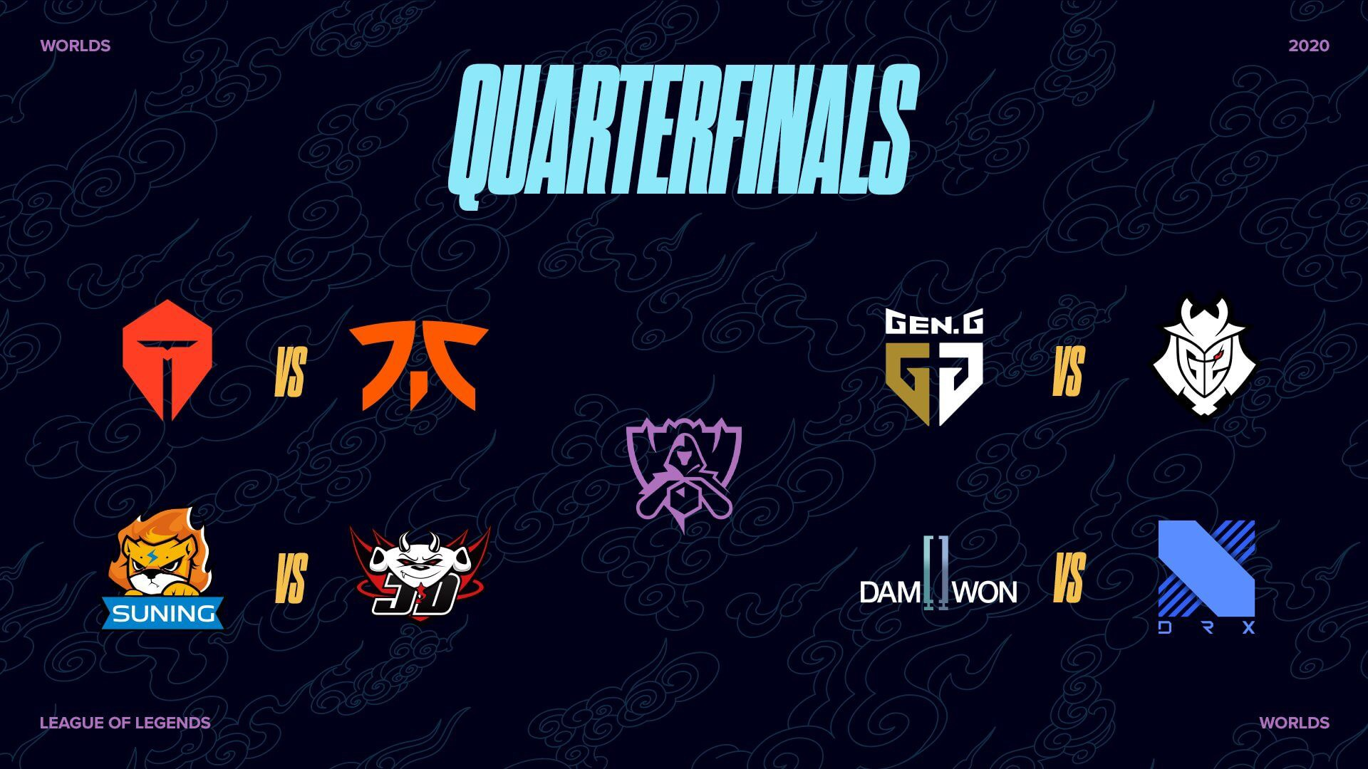 League of Legends Worlds 2020 quarterfinals for esports.