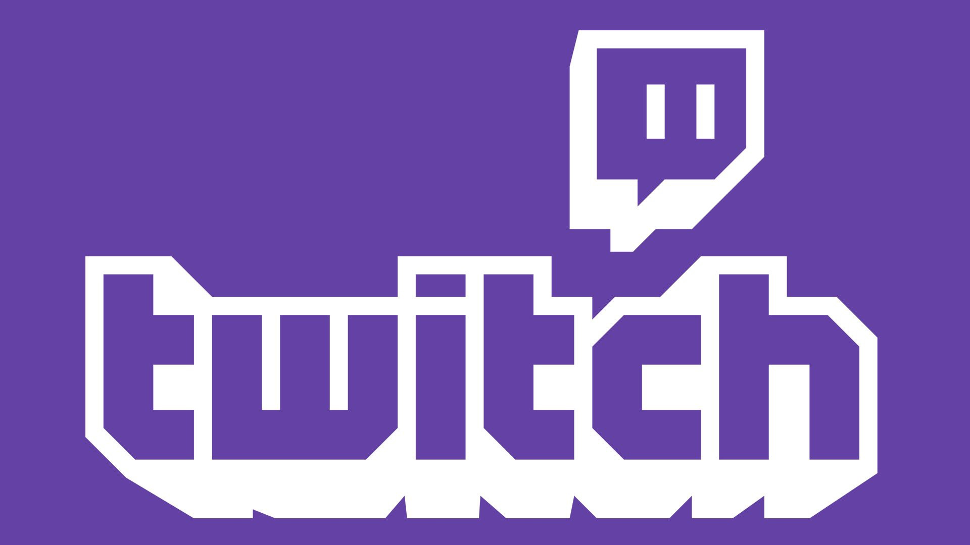 """White text on a purple background that reads """"Twitch."""""""