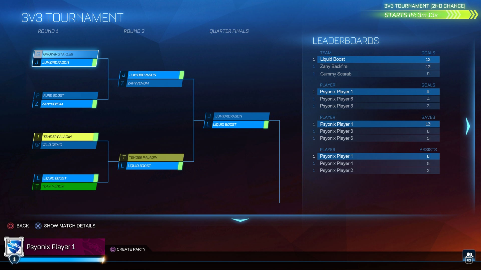 Rocket League Tournament Bracket.
