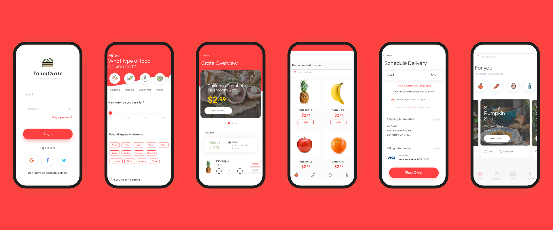 Menu For Olive Garden: Designing A CSA Food App In 3 Days
