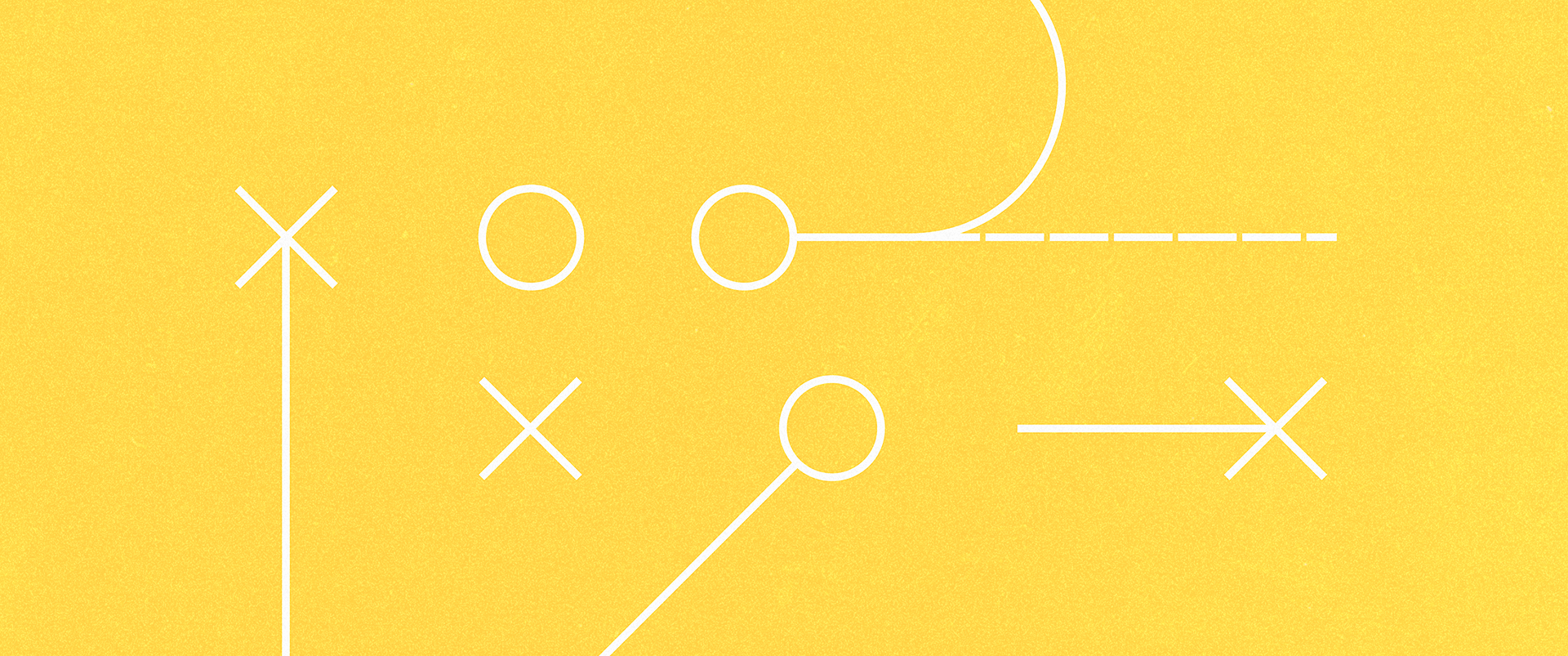 Abstract graphic of the thirteen23 logo involved in a football-style playbook.