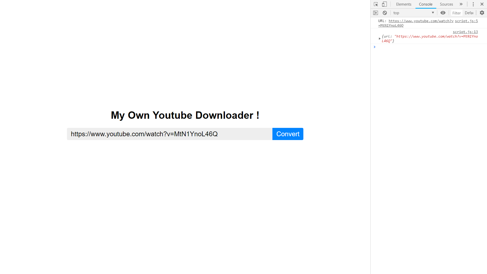 How I made my own YouTube Downloader using JavaScript and