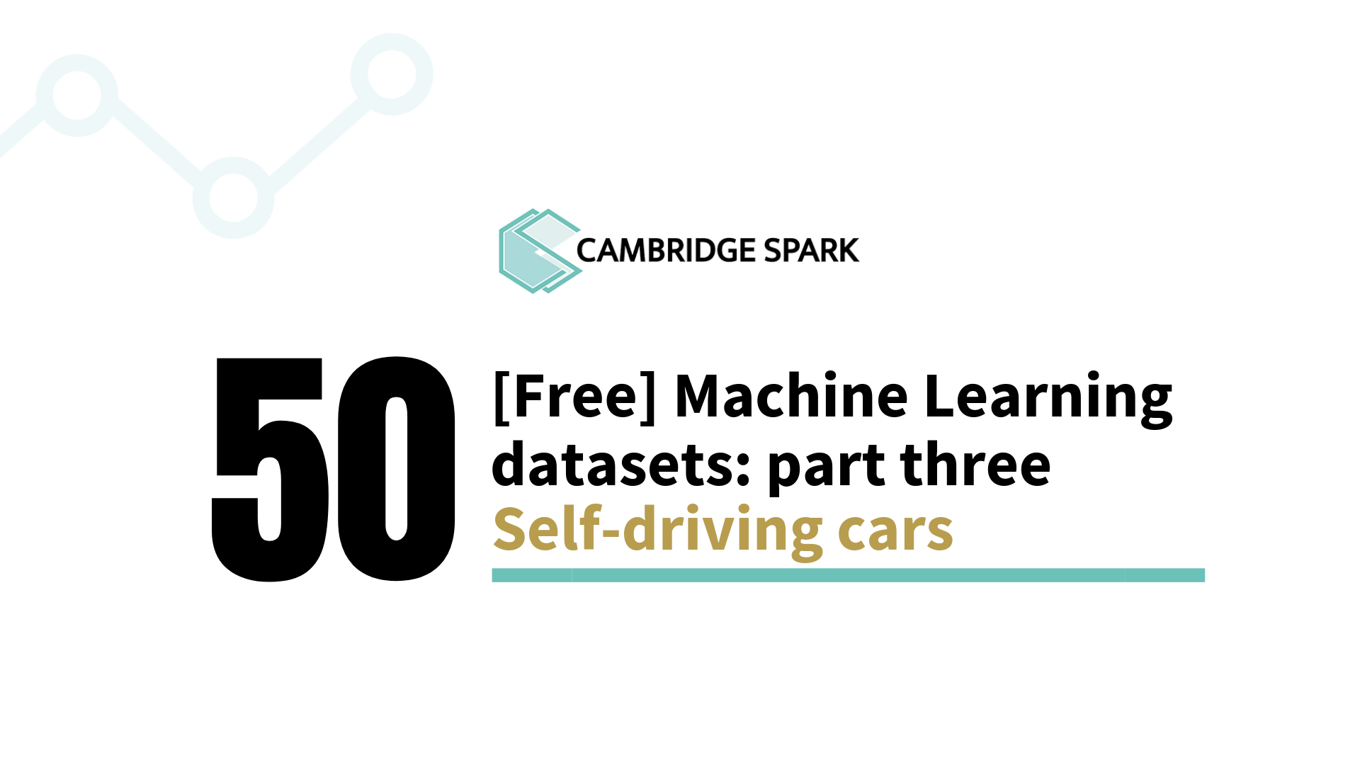 50 Free Machine Learning Datasets: Self-Driving Cars