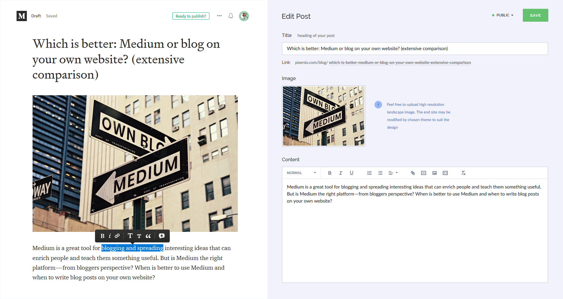 Which is better: Medium or Blog on your own website