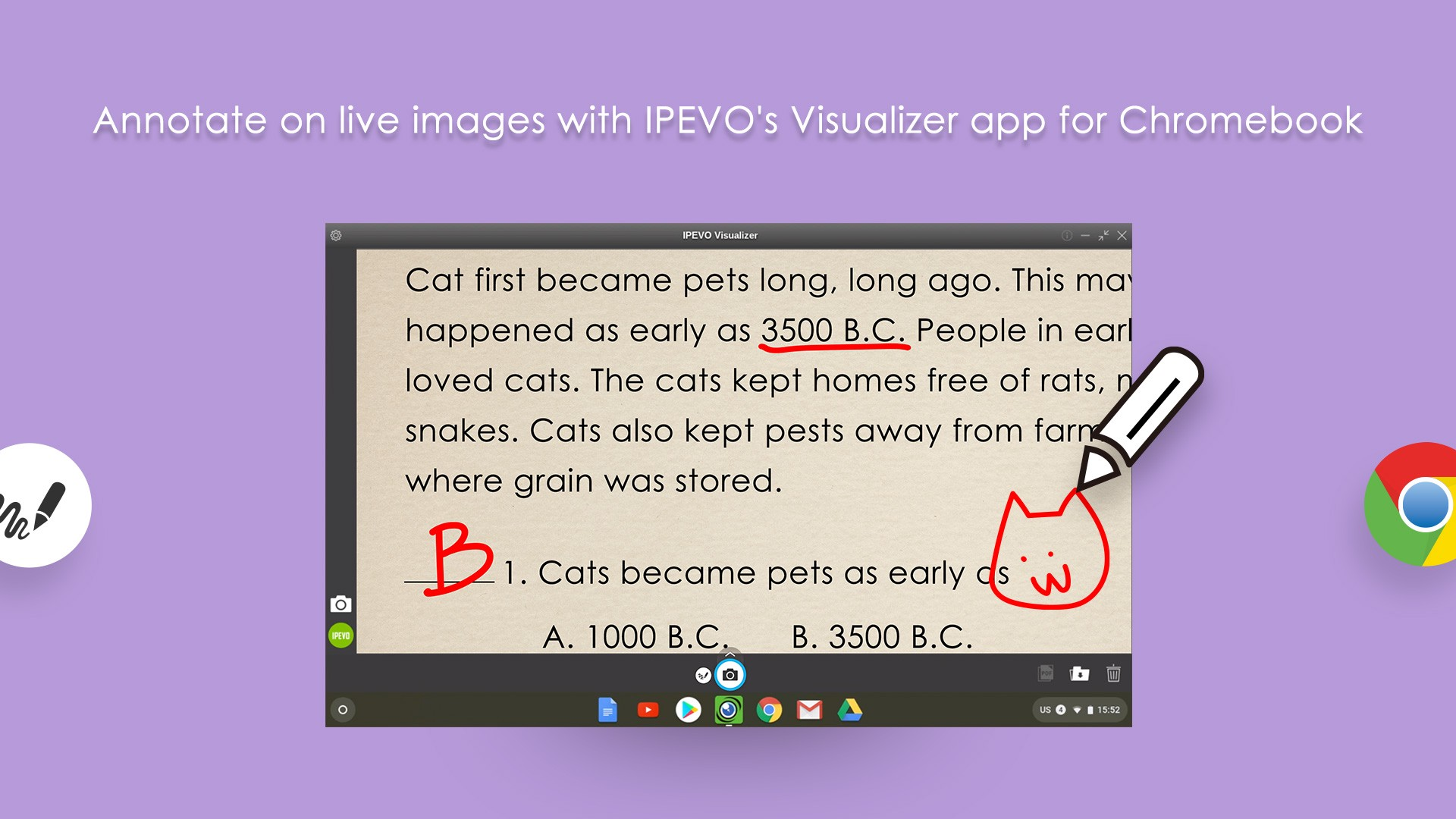 IPEVO Visualizer for Chromebook—Annotate on live images
