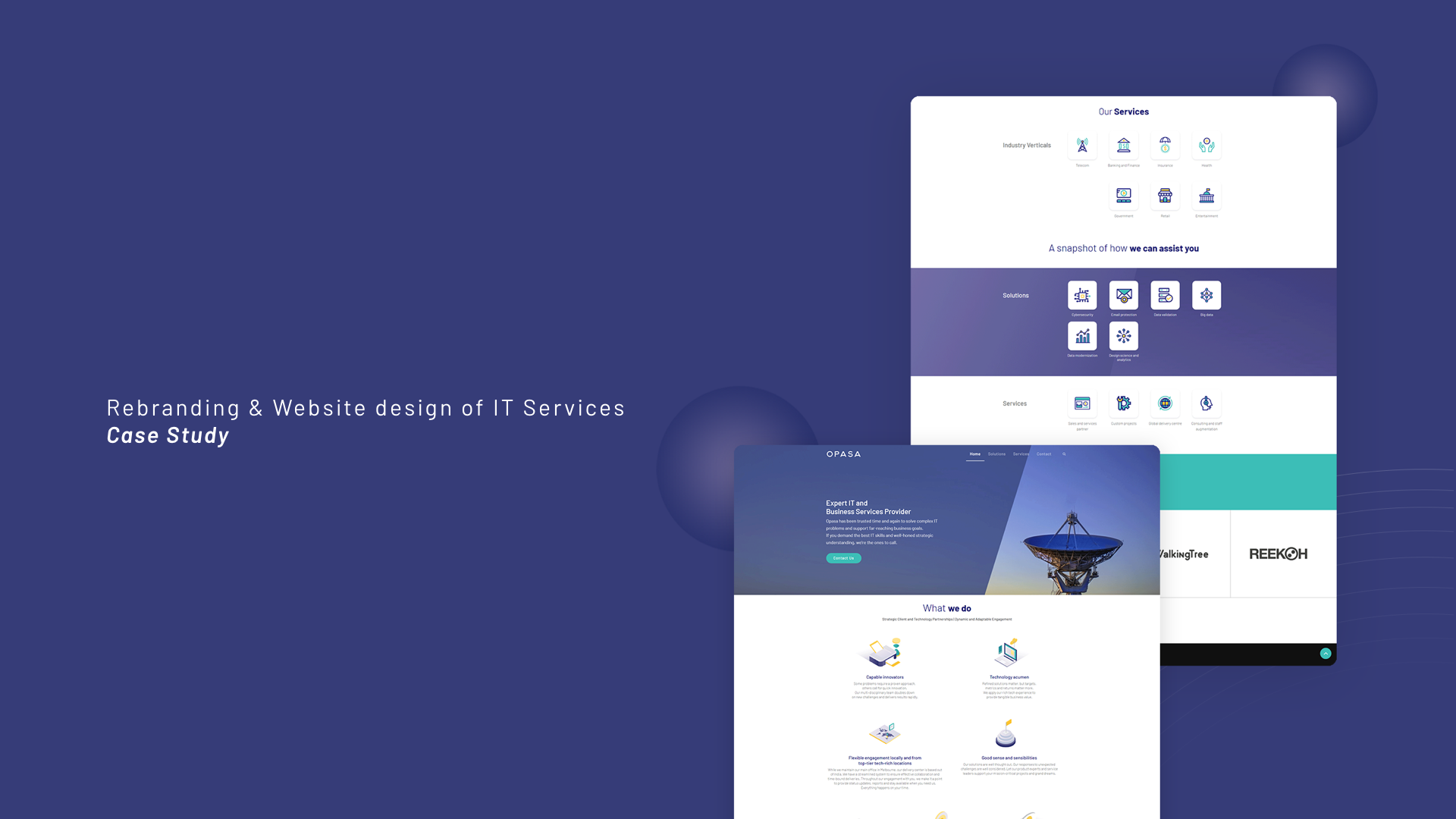 Case Study Rebranding Website Design Of It Services By Sid Muzli Design Inspiration