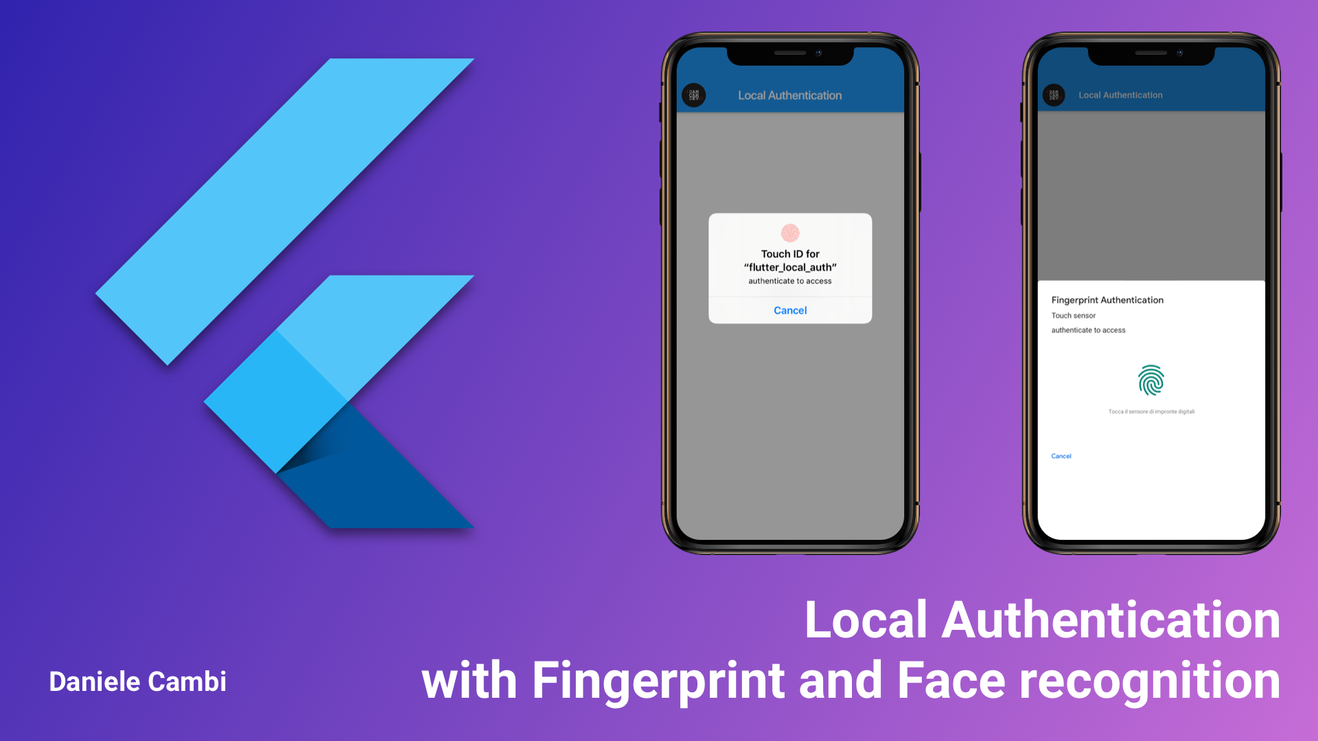 Flutter — Local Authentication with Fingerprint and Face