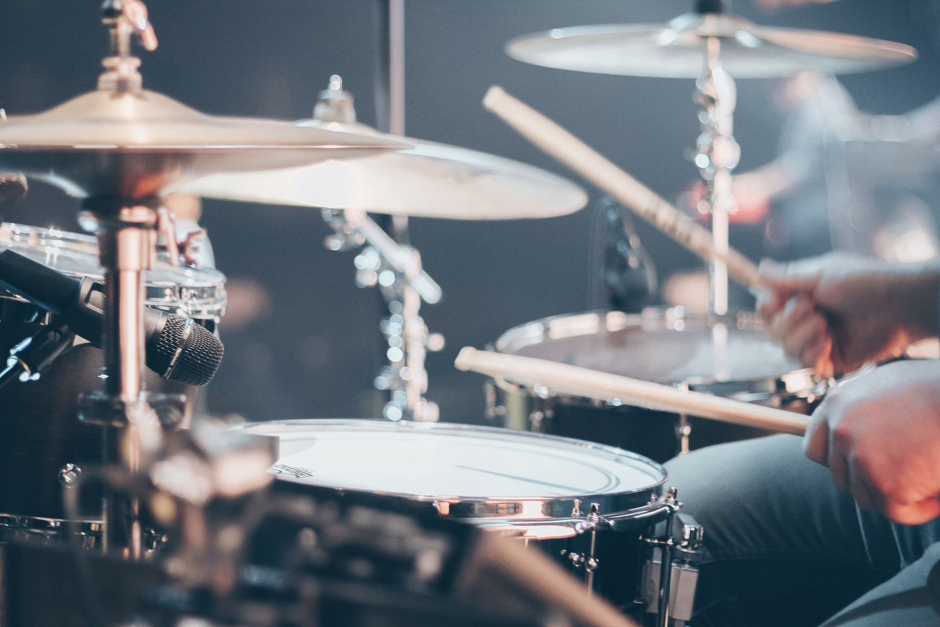 Picture of a drummer playing in the pocket.