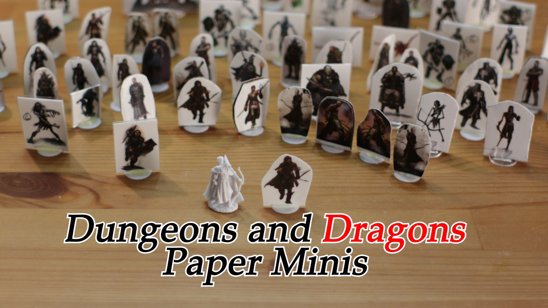 graphic relating to Dnd Printable Minis named Dungeons and Dragons Paper Minis - Matt Taylor - Medium
