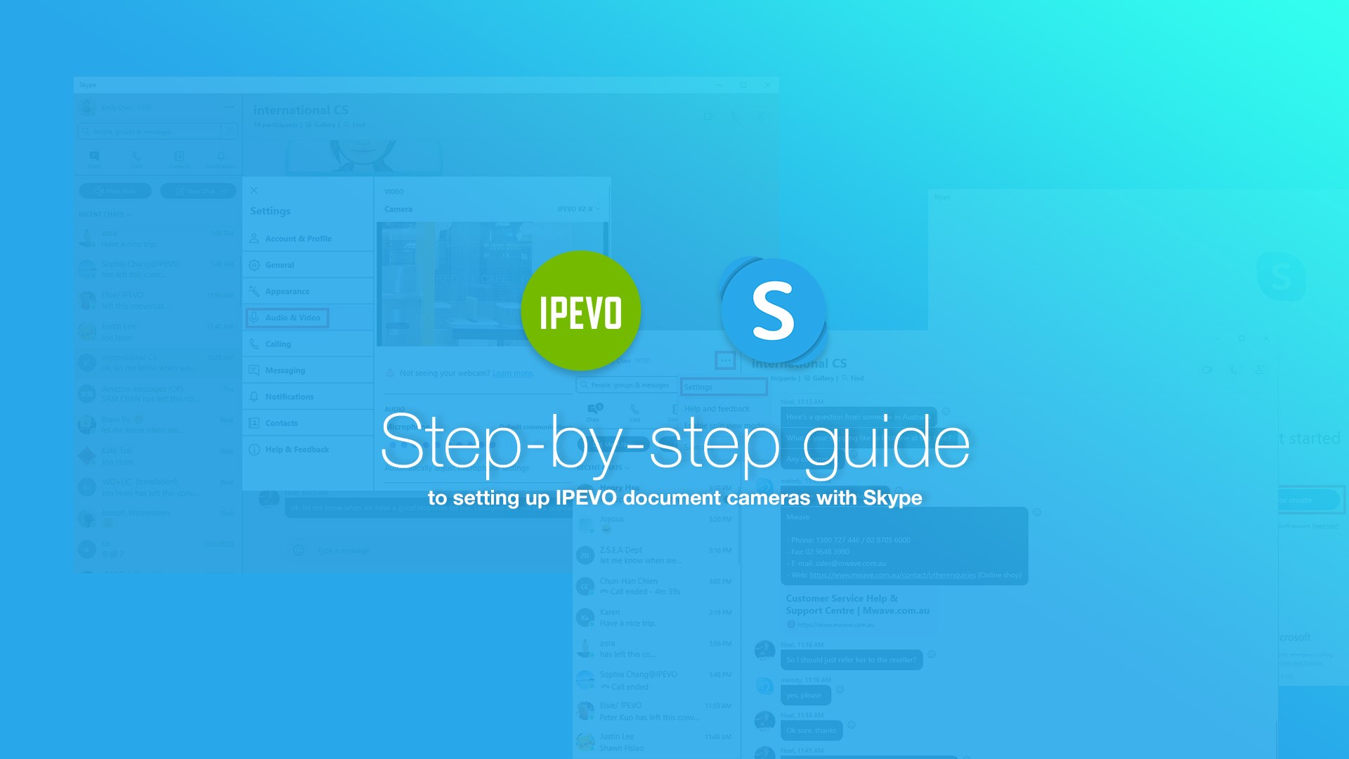 Step-by-step guide to setting up IPEVO document cameras with Skype