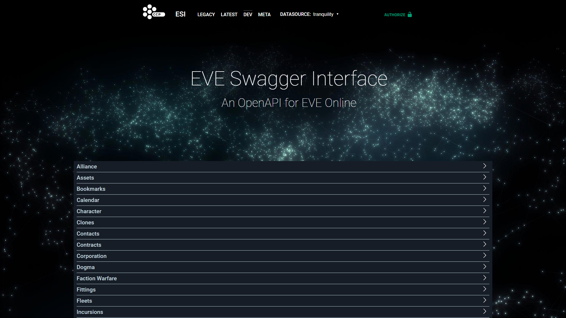 ESI, the new and only EVE API - taabe net blog