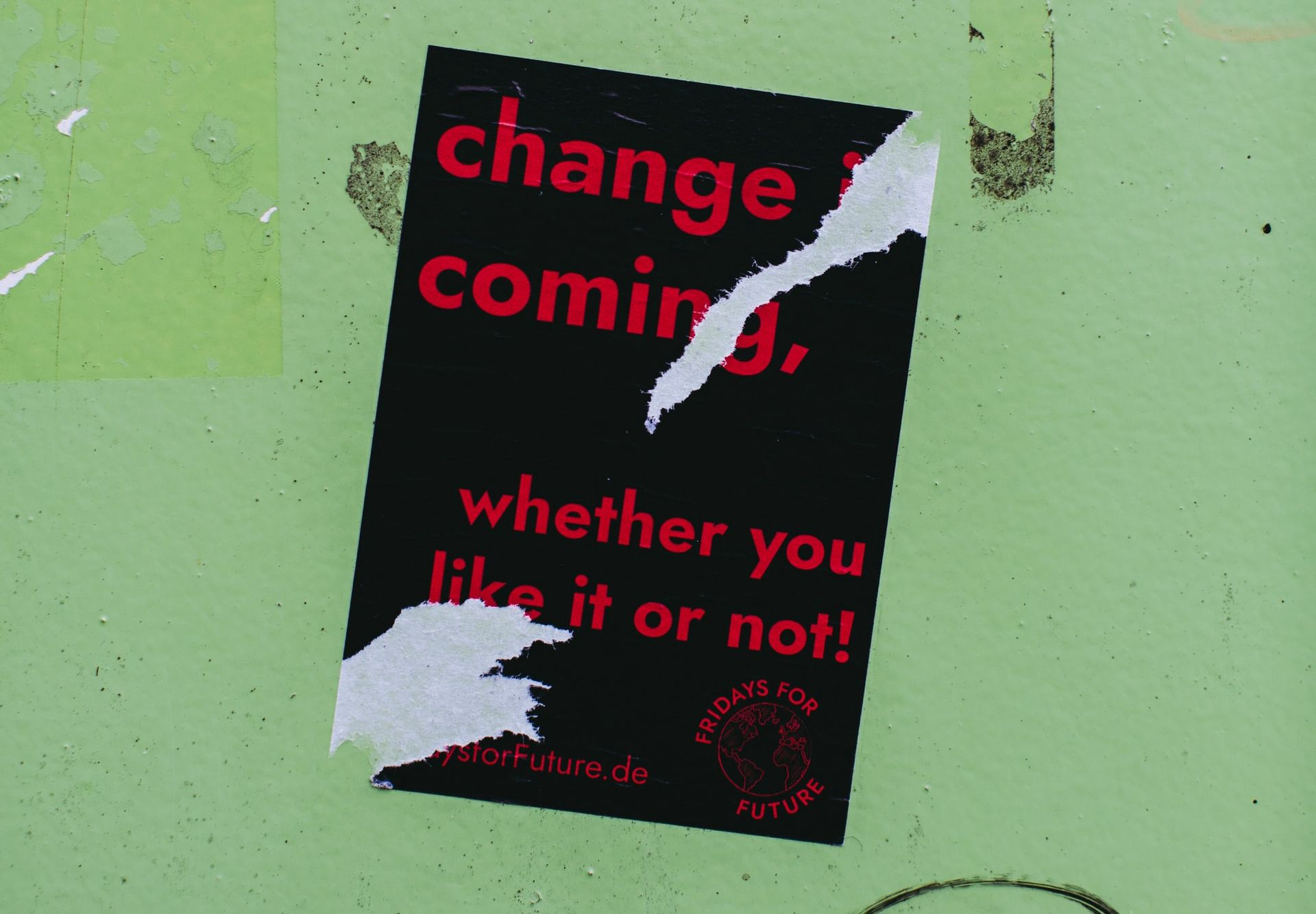 Change is Coming Poster — corporate advocacy, corporate activism, brand activism, branding, CSR, social impact