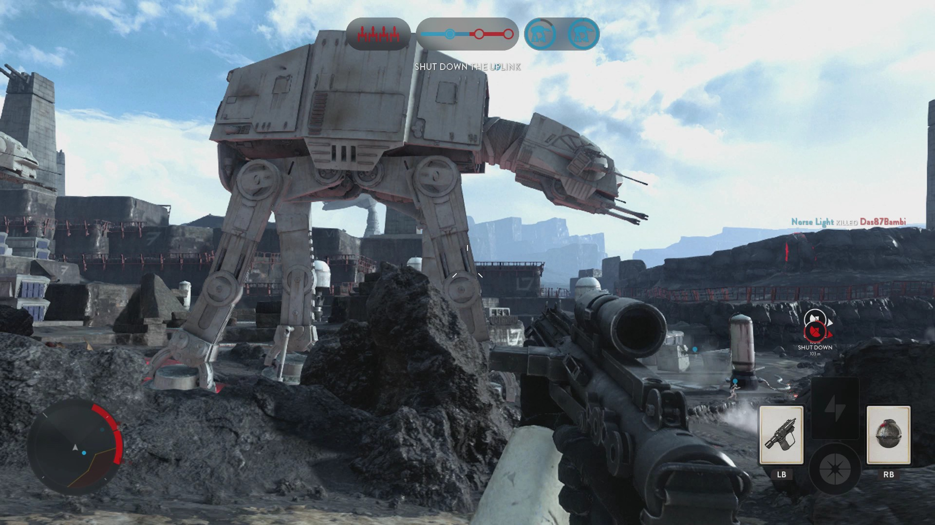 a scene from EA's first Battlefront game