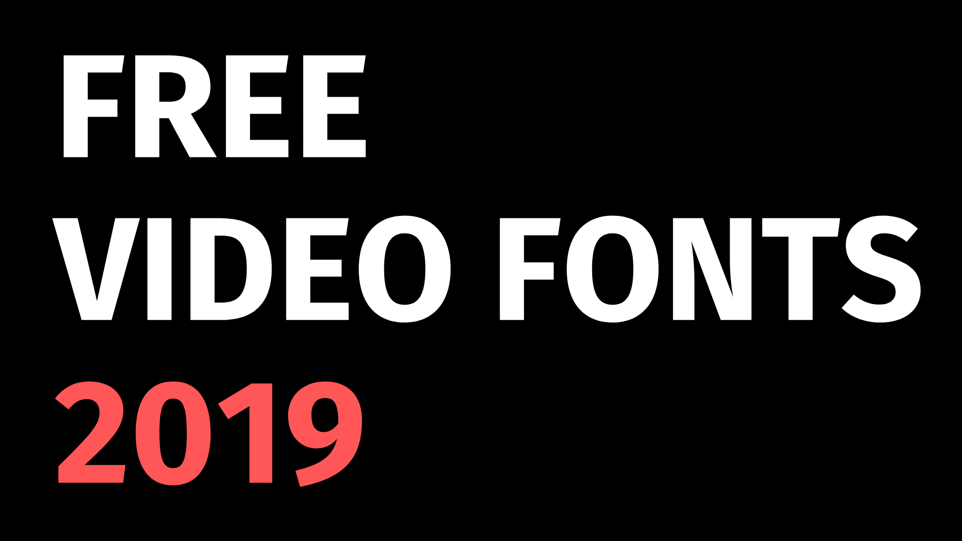30 Free Fonts for Video Marketing in 2019 - ART + marketing
