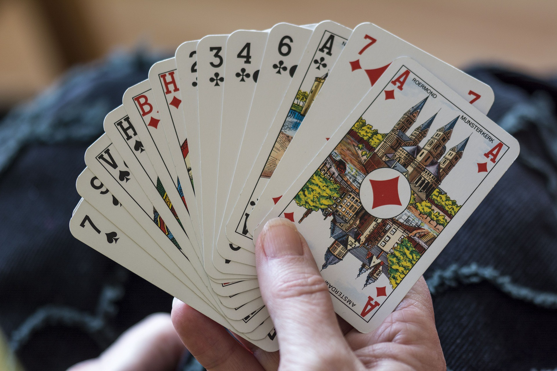 a starting hand in the card game duplicate contract bridge