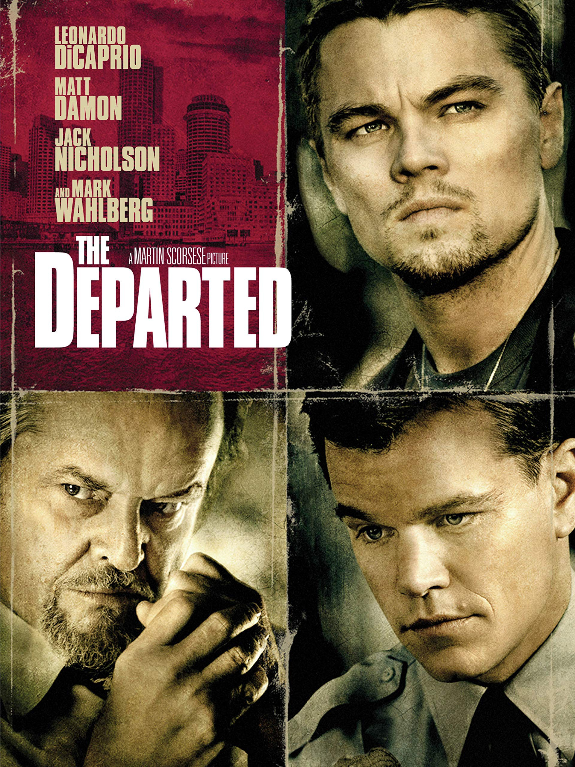 The poster for The Departed