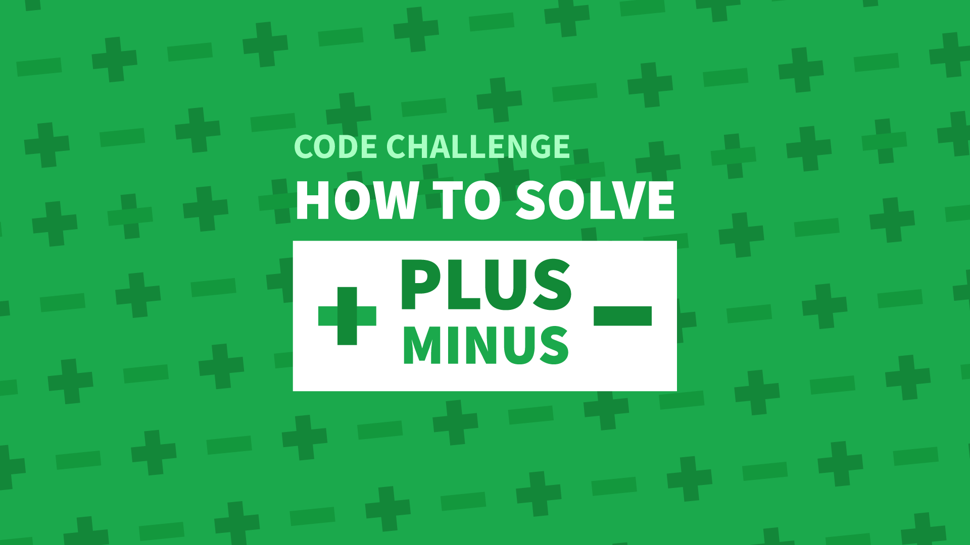 How To Solve The Plus Minus Code Challenge - Manny Codes