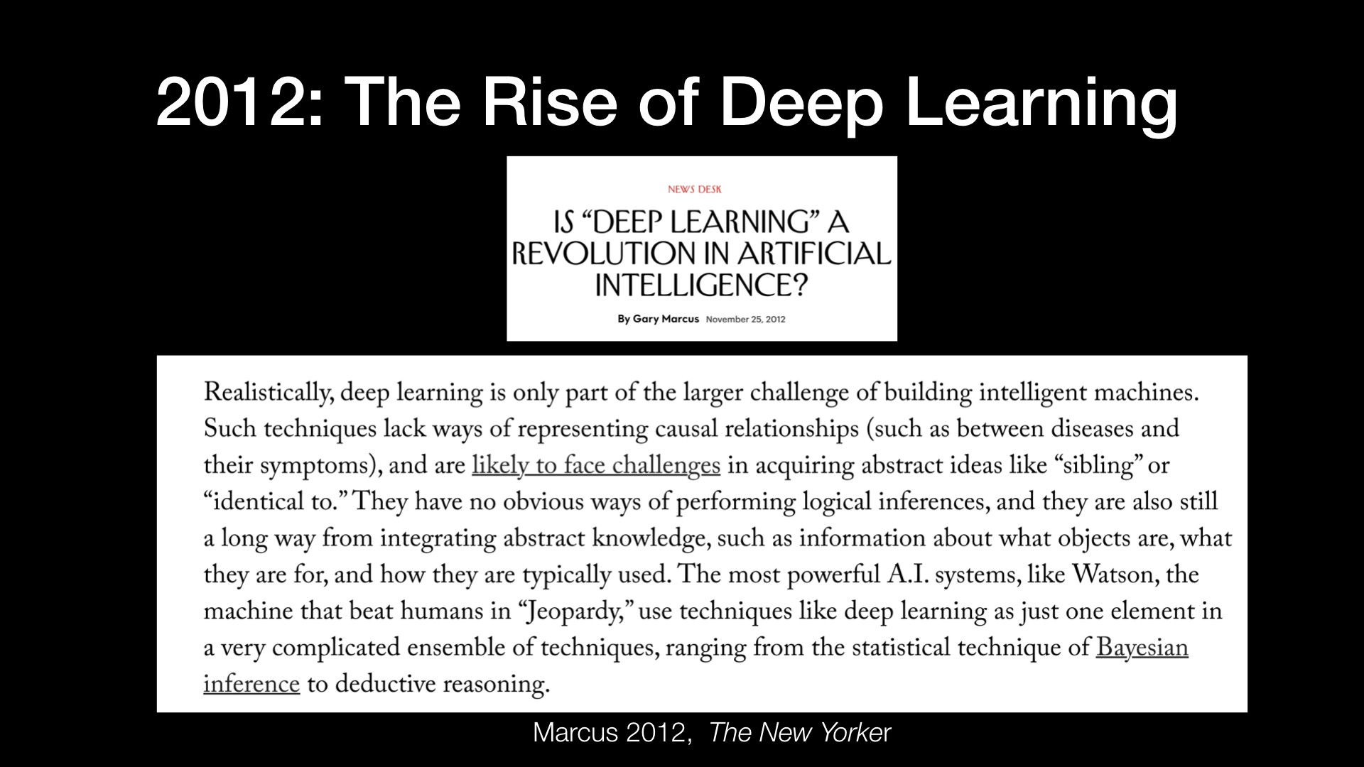 2012: The Rise of Deep Learning