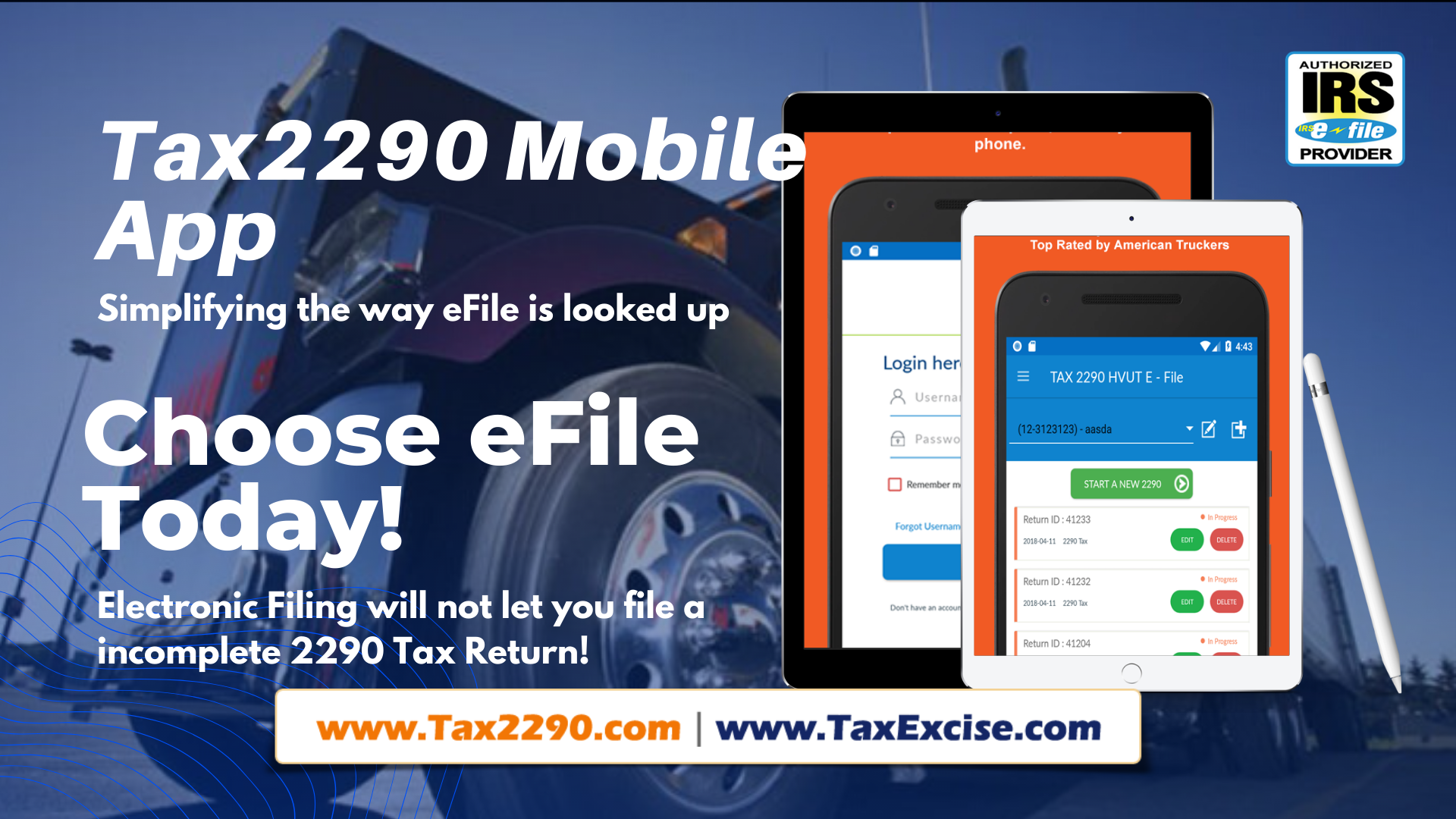 Android Tax2290 App to eFile HVUT returns | by ThinkTrade Inc. | Federal  Tax Excise Electronic Filing | Medium