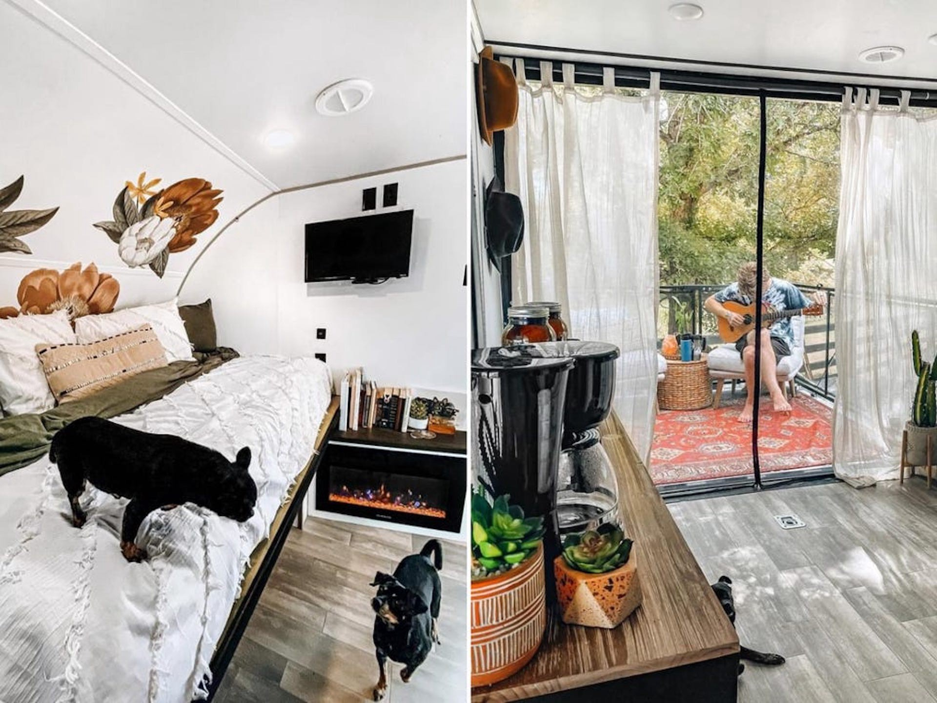 Insider Kirsten and Devin's 100-square-foot toy hauler.