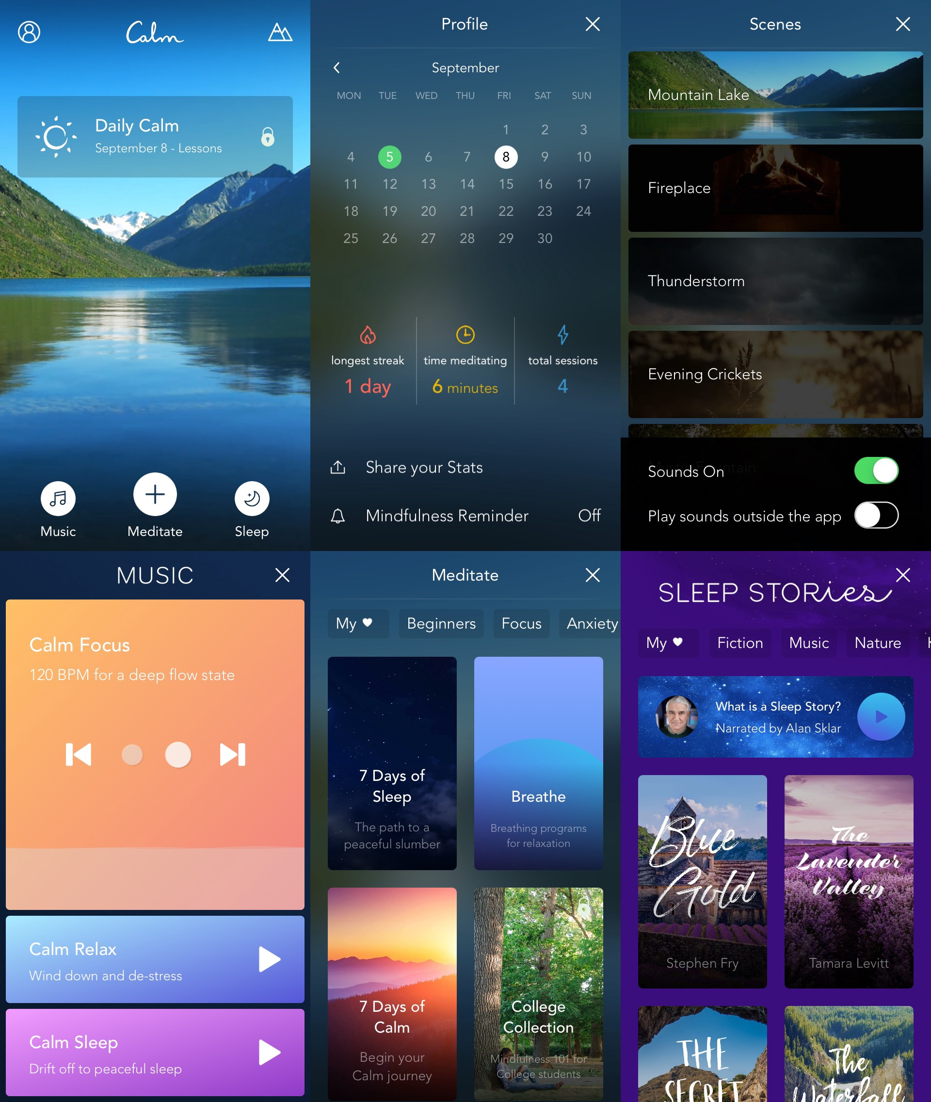 How To Use The Calm App