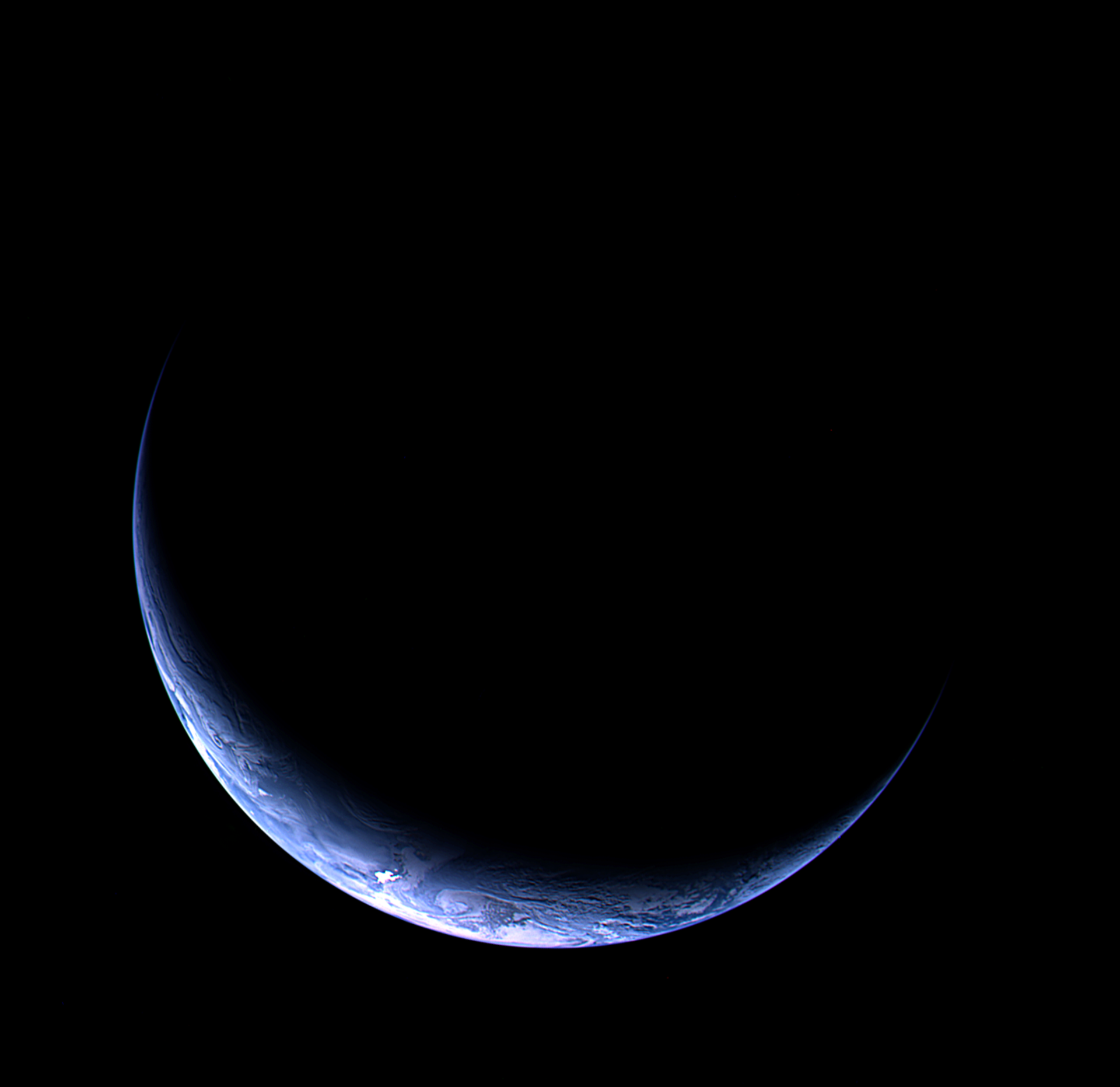 Real photo of Earth taken by Rosetta spacecraft