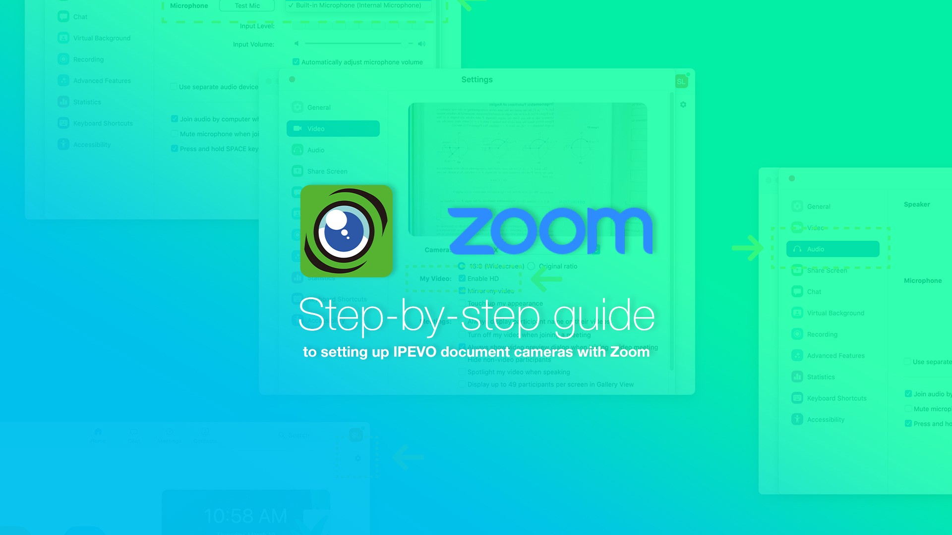 Step-by-step guide to setting up IPEVO document cameras with Zoom
