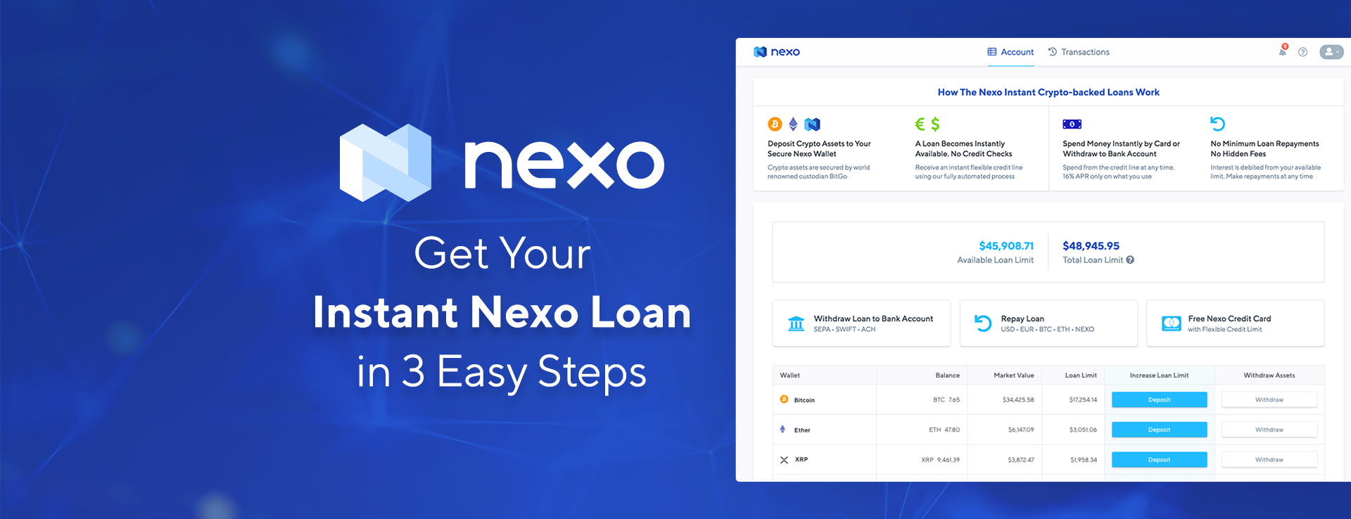 Getting Your Instant Nexo Loan in Three Easy Steps in 200+