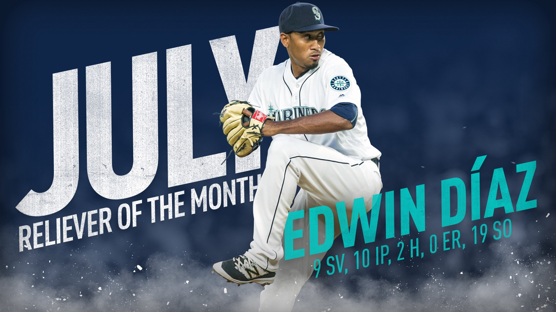 pretty nice fd707 f1e0c Edwin Díaz Earns Back-to-Back AL Reliever of the Month Awards