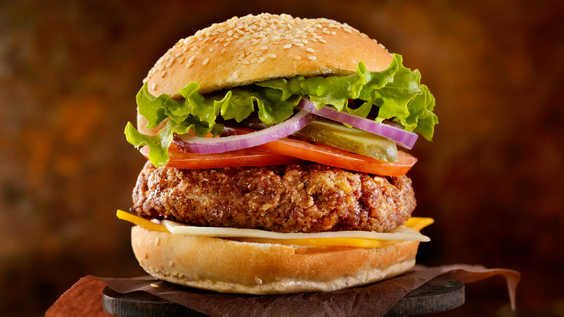Large Ultimate Burger with Lettuce, Onion, Pickles, and Tomatoes