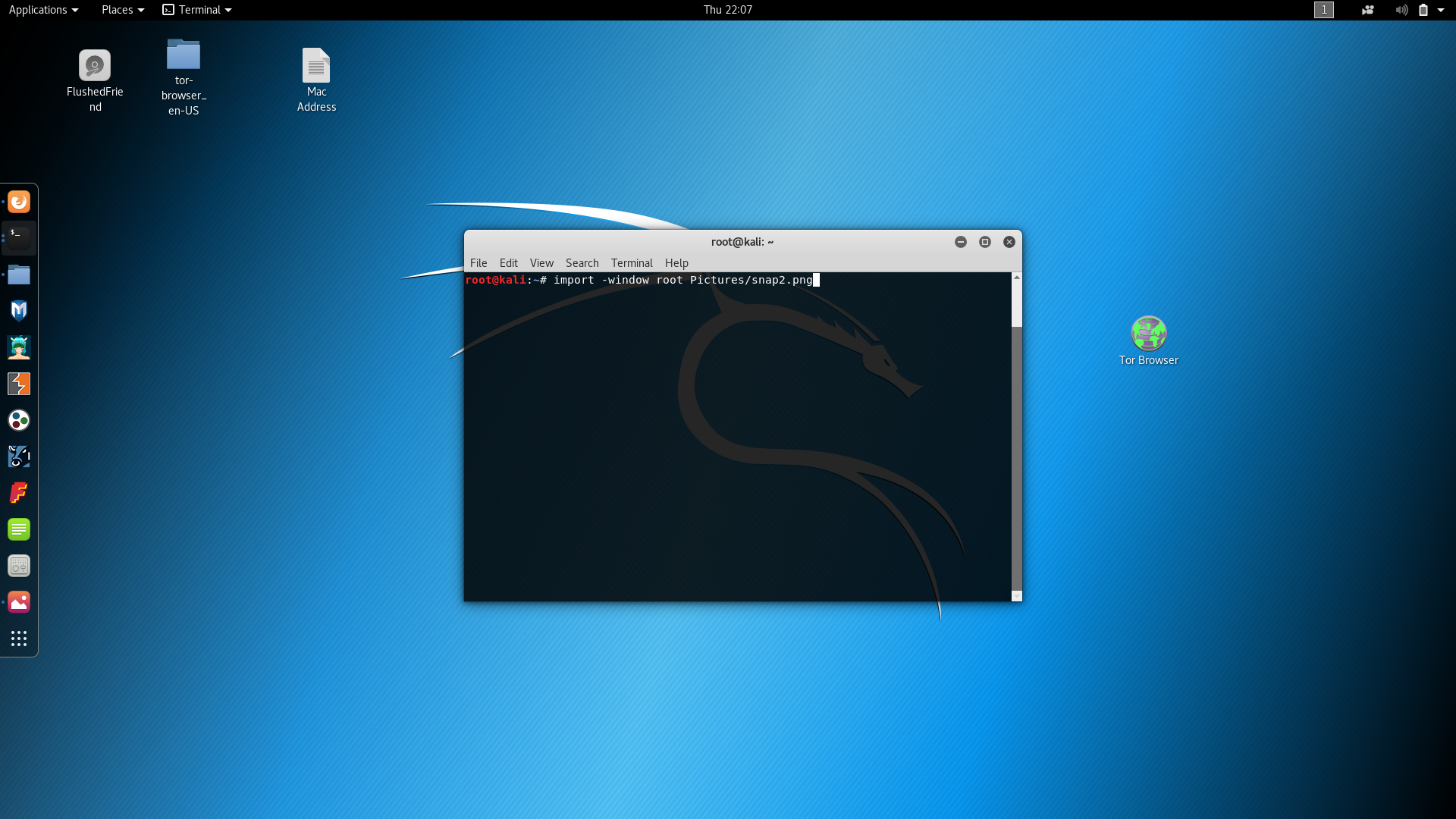 How to take a screenshot in Kali Linux 2017 3