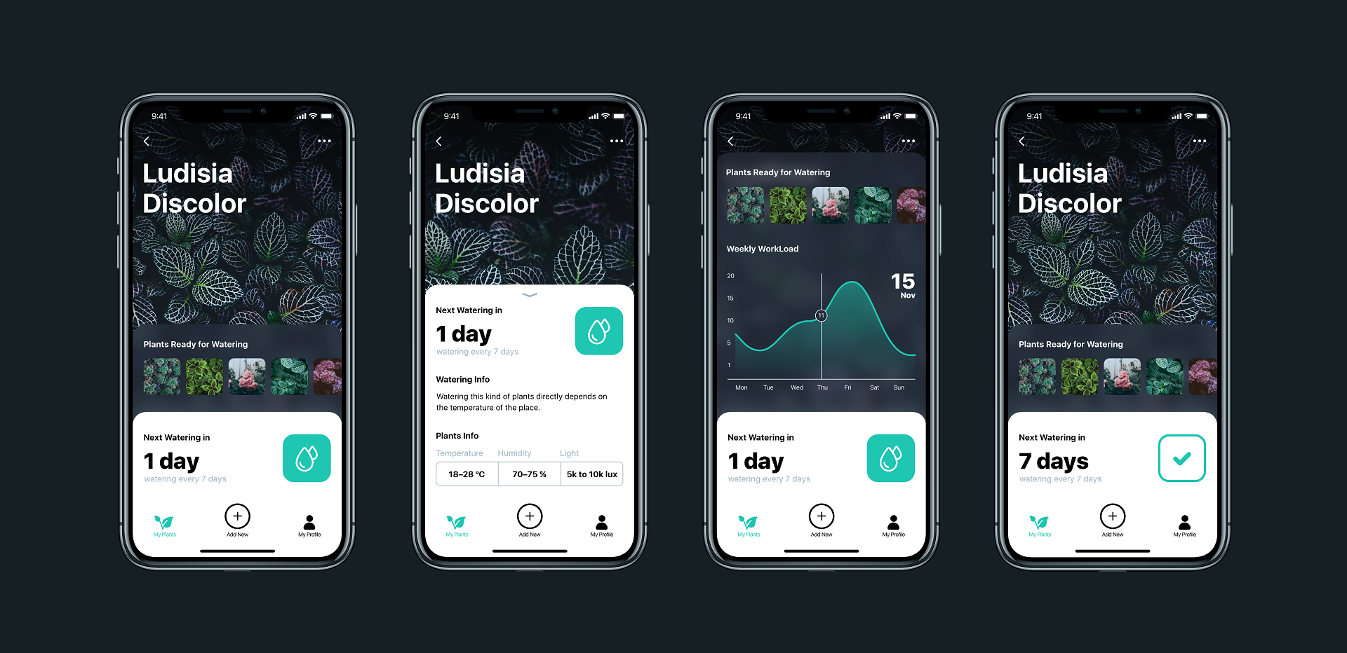 Case Study: Watering Tracker  UI Design for Home Needs