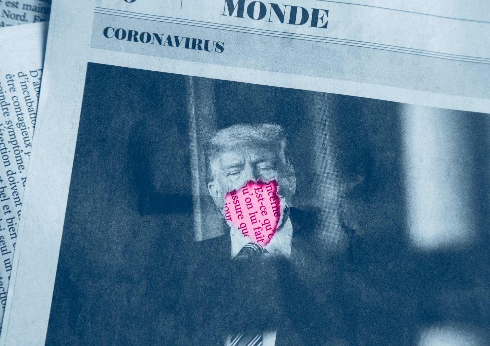 Photo of Donald Trump in a French newspaper