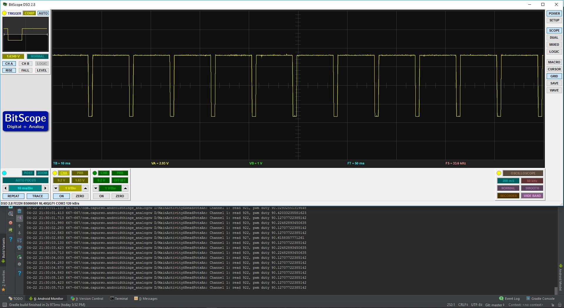 Android Things: Analog I/O (and PWM, SPI, I²C) Tutorial with