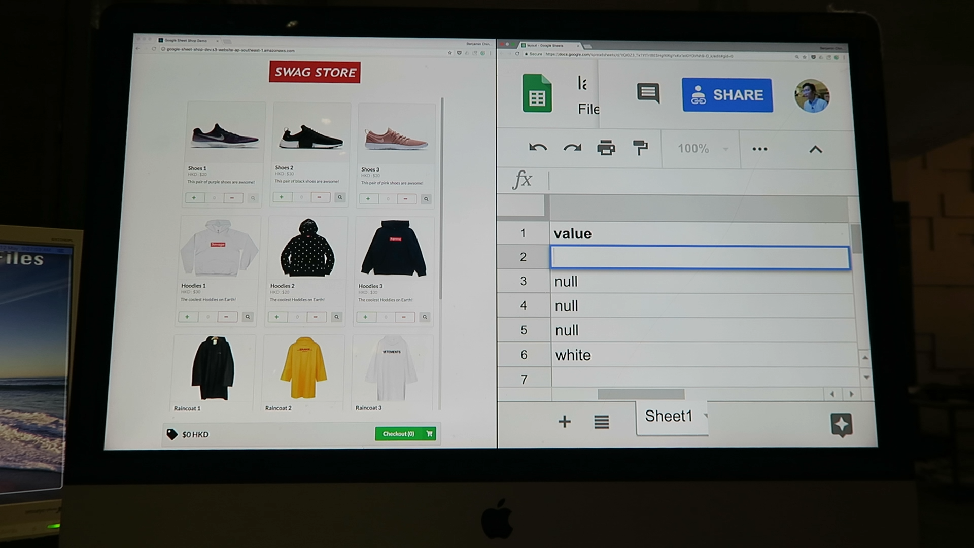 Build an Online Store for Free with Google Sheet — Part 1(WIP)